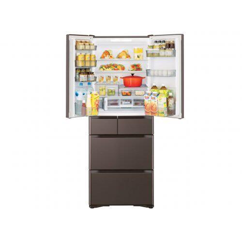 Tủ lạnh Hitachi R-XG56J nội địa Nhật Bản thiết kế cửa gương 6 cánh