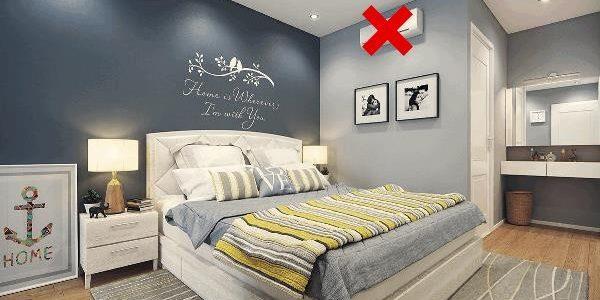 cách đặt máy điều hòa trong phòng ngủ