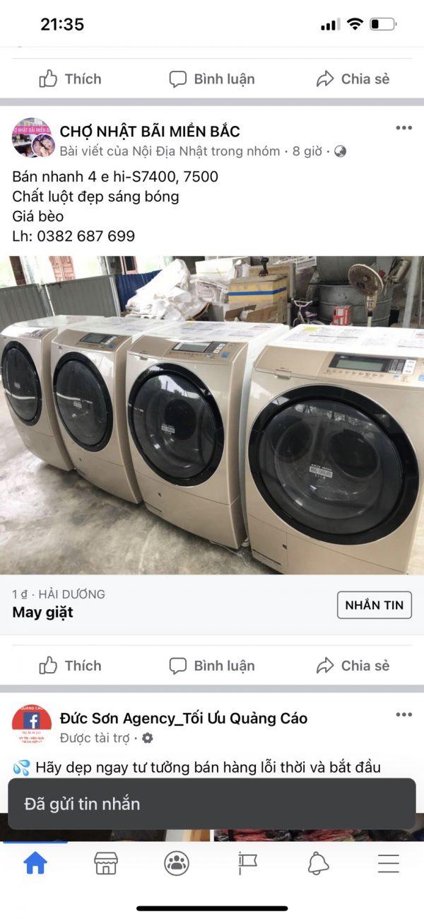 Máy Giặt Hitachi Bd S7500 4